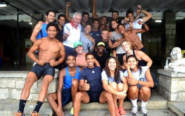 Alan Campbell e Bill Barry no remo do Botafogo (Foto: Reprodução / Facebook Oficial)