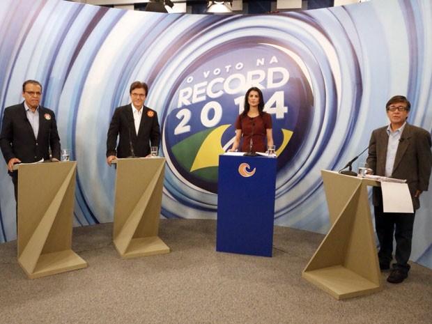 Henrique, Robinson e Robério participaram de debate em Natal (Foto: Canindé Soares/G1)