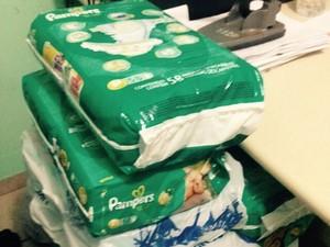 Fraldas eram compradas com pontos de programa de fidelidade de terceiros (Foto: Divulgação/Polícia Civil)