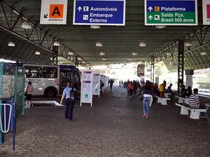 Terminal Rodoviário de Valinhos (SP) (Foto: Fernando Pacífico / G1 Campinas)