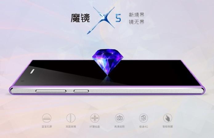 Celular chinês vem com tela de safira (Foto: Divulgação/Desay)