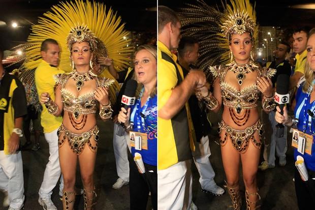 São Clemente - rainha de bateria (Foto: Isac Luz / Ego)