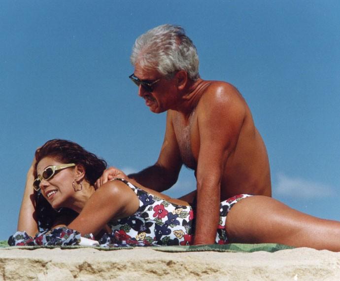 Ao lado de Nuno Leal Maia, Angela viveu Ava Maria, personagem de Meu Bem Querer (1998) (Foto: Cedoc)
