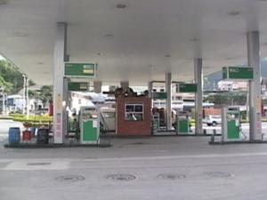 Posto de gasolina em que foi encontrada a criança (Foto: Reprodução/TV Gazeta Sul)