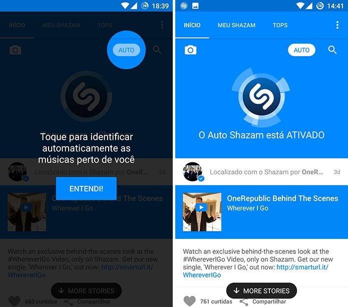 Shazam tem nova função que identifica músicas em segundo plano no Android (Foto: Reprodução/Elson de Souza)