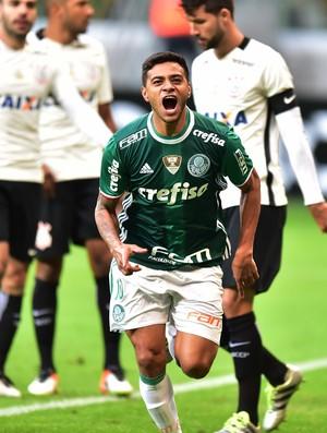 Cleiton Xavier comemora gol Palmeiras X Corinthians (Foto: Marcos Ribolli)