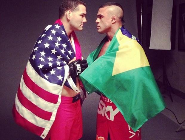 Instagram - Chris Weidman e Vitor Belfort (Foto: Reprodução / Instagram)