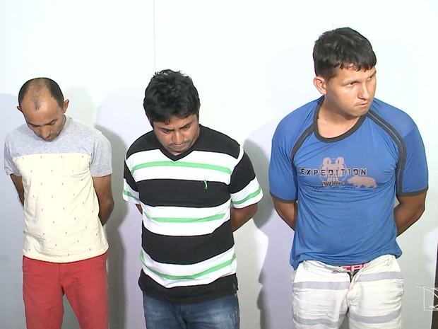 Criminosos presos no MA vendiam mercadoria roubada dos caminhões atacados na estrada (Foto: Reprodução/TV Mirante)