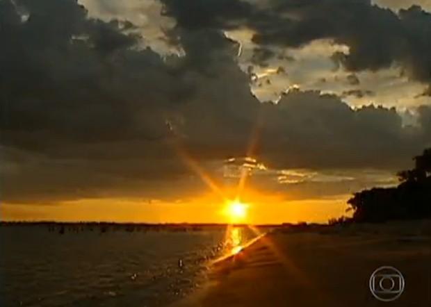 Beleza natural que encanta turistas nas praias do interior (Foto: Divulgação / Tv Tem)