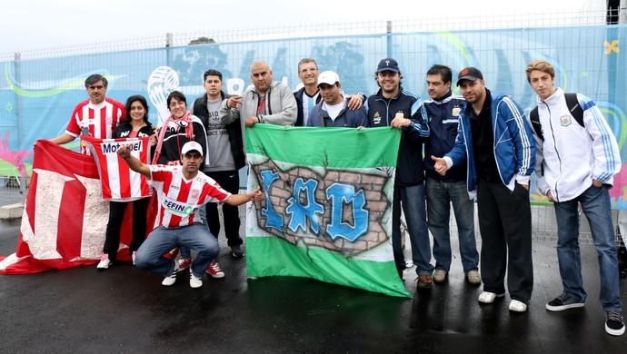 Argentinos chegam a Porto Alegre  (Foto: Diego Guichard/GloboEsporte.com)