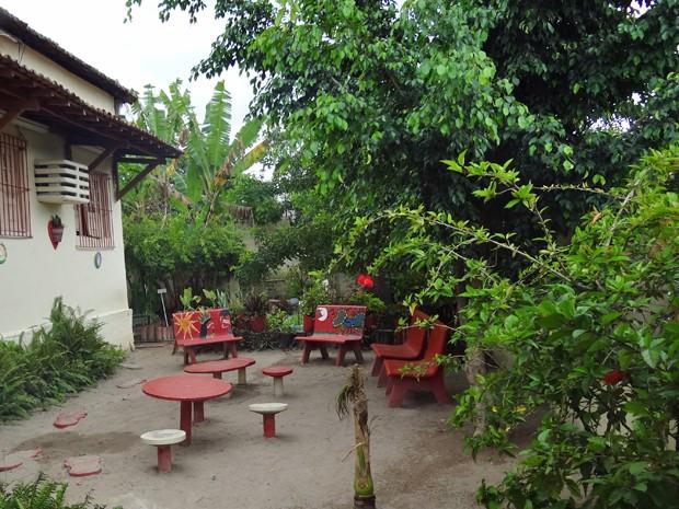 Escola Cecília Meirelles contou com ajuda dos alunos para arborização e horta. (Foto: Katherine Coutinho/G1)