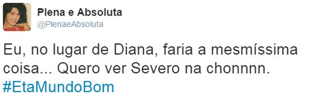 Fã concorda com a atitude de Diana (Foto: Reprodução)