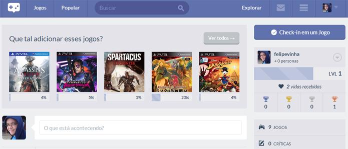 O site tem interface fácil e direta ao ponto (Foto: Reprodução/Felipe Vinha)
