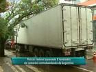 Caminhão com 8 t de camarões argentinos é apreendido em Cascavel