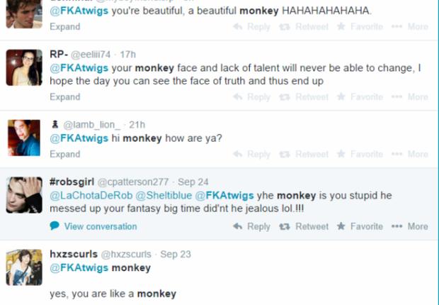 Os comentários racistas enviados por internautas (Foto: Reprodução/Twitter)