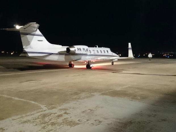 Sofia decolou às 1h25 do aeroporto de Sorocaba (Foto: Jéssica Pimentel / G1)