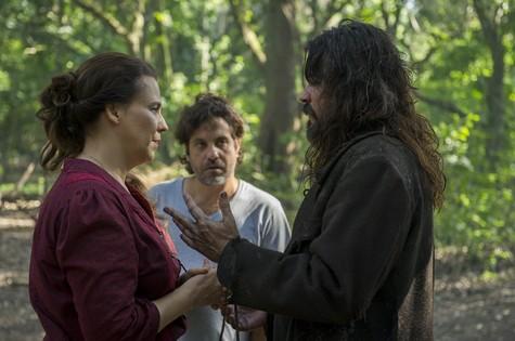Ana Beatriz Nogueira e Felipe Camargo em cena de Além do tempo (Foto: Estevam Avellar/TV globo)