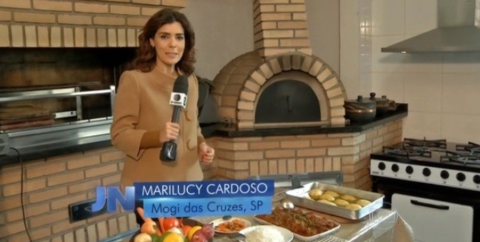 Apresentadora do Diário TV 2ª Edição, Marilucy Cardoso  (Foto: Reprodução / TV Diário)