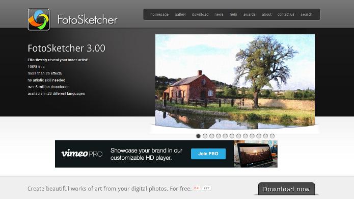 FotoSketcher é um editor que transforma foto em obra de arte e possui várias molduras para as imagens(Foto: Divulgação)