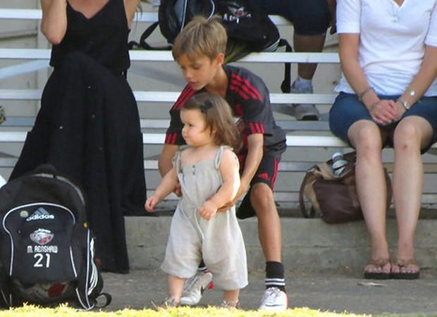 Romeo brincou com a irmã mais nova (Foto: Reprodução)