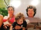 Luciana Gimenez posta foto antiga com Mick Jagger e o filho Lucas