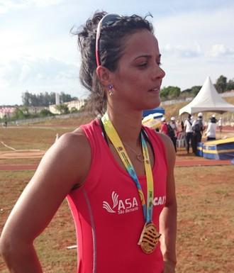 Patricia Gabriela dos Santos, de São Bernardo, ouro no salto com vara (Foto: Sérgio Pais)