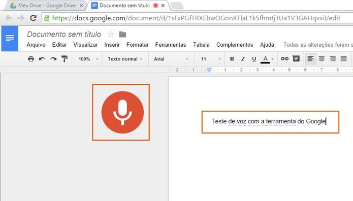 Inicie os comandos por voz para a digitação (Foto: Reprodução/Barbara Mannara)