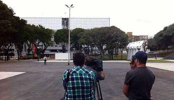 Janaína Castilho gravação drone (Foto: Divulgação/ RPC TV)