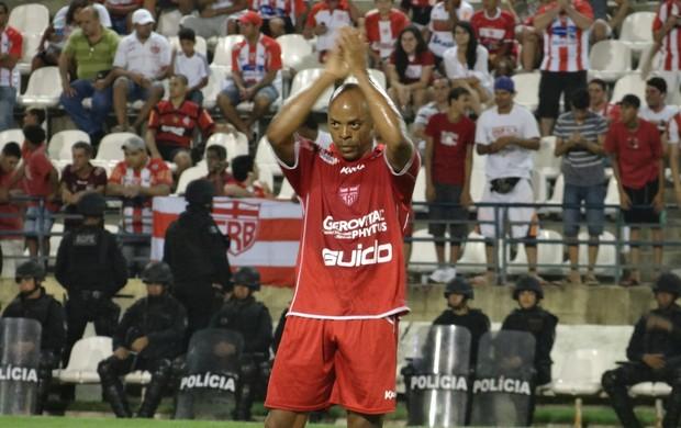 Denilson, no jogo CRB x ASA (Foto: Caio Lorena / Globoesporte.com)