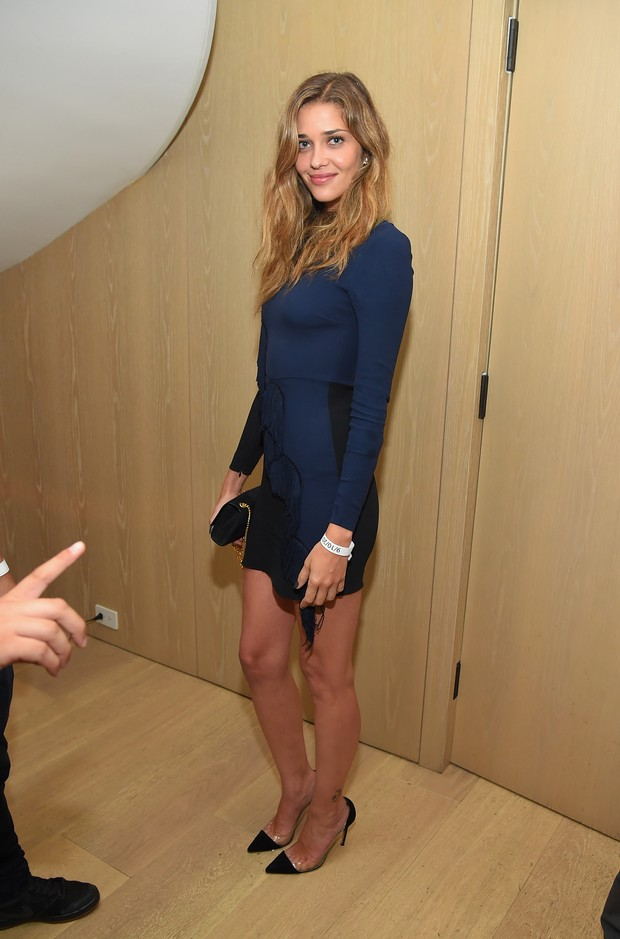 Ana Beatriz Barros em festa em Nova York, nos Estados Unidos (Foto: Michael Loccisano/ Getty Images/ AFP)