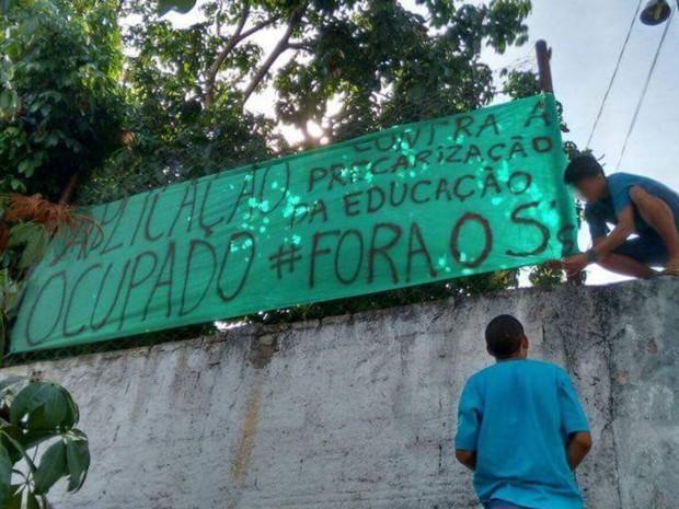 Colégio Estadual de Aplicação Professor Manuel Caiado foi ocupado na cidade de Goiás (Foto: Divulgação)