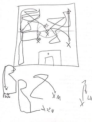 Campinho desenhado por Kleina com funções táticas de Wesley - palmeiras (Foto: reprodução)