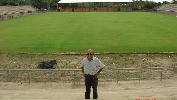 Estádio Antônio Aquino, o Florestão, durante a construção (Foto: Manoel Façanha/Arquivo pessoal)