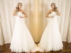 Juju Salimeni faz primeira prova do vestido de noiva: 'Estou empolgada'