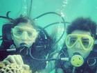 Andressa e Nasser não se desgrudam: 'Até debaixo d'água'