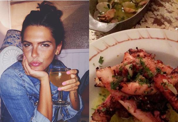 Tenho comido muito frutos do mar. A comida Mediterrânea é a melhor do mundo! Estou apaixonada, disse (Foto: Reprodução/ Instagram)