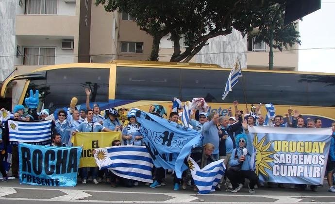 Torcida do Uruguai em São José dos Campos Copa do Mundo (Foto: Daniel Corrá)