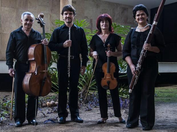 Camerata Quarteto Novo é uma das atrações da série de concertos gratuitos (Foto: Mauricio Serra/Divulgação)