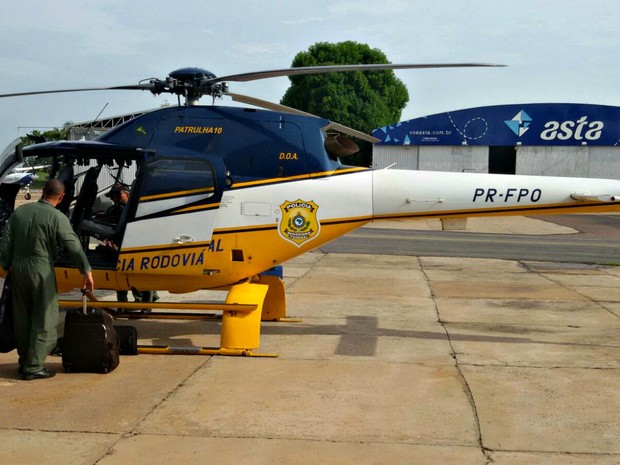 Helicóptero será usado pela PRF para monitoramento de crimes nas rodovias federais do estado (Foto: Assessoria/ PRFMT)