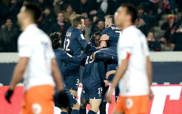Kevin Gameiro comemoração PSG Montpellier (Foto: AFP)