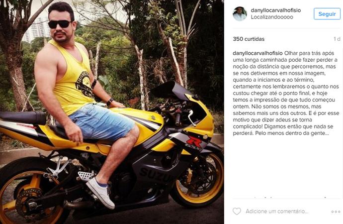 Jogador de rúbgi morre em acidente de moto  (Foto: Reprodução/Instagram )