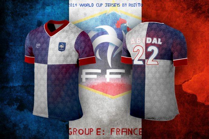 Blog da Copa - design camisa da França