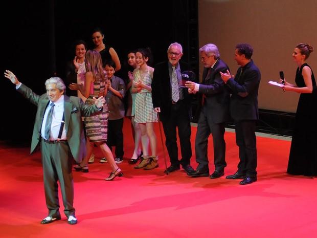 Domingos de Oliveira foi o homenageado da premiação (Foto: Alexandre Durão/ G1)
