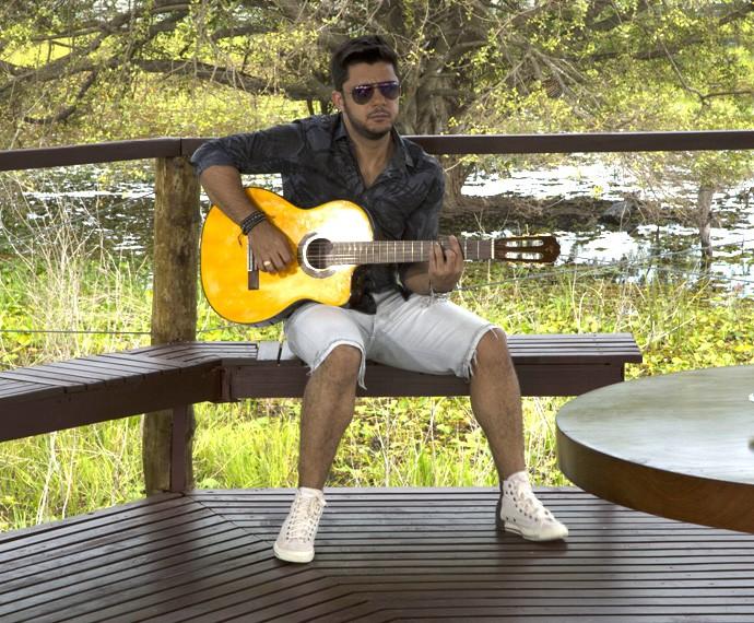 Cristiano Araújo cantou sucessos no programa (Foto: Gabriel Nascimento/Gshow)