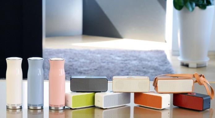 Music Flow P5 e SoundPop 360, novas caixas de som bluetooth da LG (Foto: Divulgação) (Foto: Music Flow P5 e SoundPop 360, novas caixas de som bluetooth da LG (Foto: Divulgação))