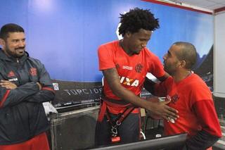 Rafael Vaz e Emerson Sheik Flamengo (Foto: Gilvan de Souza/Flamengo)