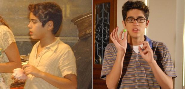 Miguel Rômulo se destacou como Reginaldo na primeira fase de 'Senhora do Destino' (2004) e o nerd Felipe em 'Caras e Bocas' (2009) (Foto: Divulgação/TV Globo)