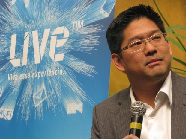 Rogerio Takayanag, presidente da TIM Faber (Foto: Darlan Alvarenga/G1)