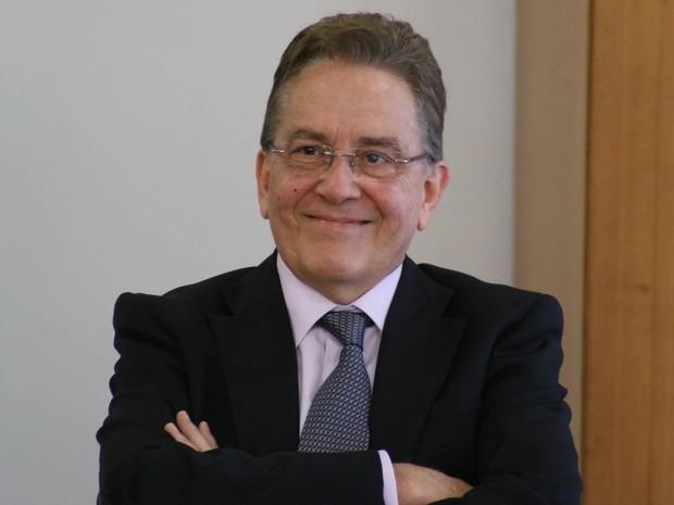 O novo presidente do Instituto Brasileiro de Geografia e Estatísca-IBGE, Paulo Rabello de Castro, durante cerimônia de posse do seu novo cargo, no Palácio do Planalto, em Brasília (Foto: Charles Sholl/Futura Press/Estadão Conteúdo)