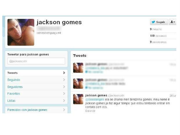 Perfil Jackson  (Foto: Reprodução / Twitter)
